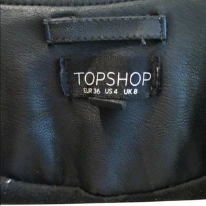 Topshop Jackets & Coats - Topshop leather moto jacket size 4